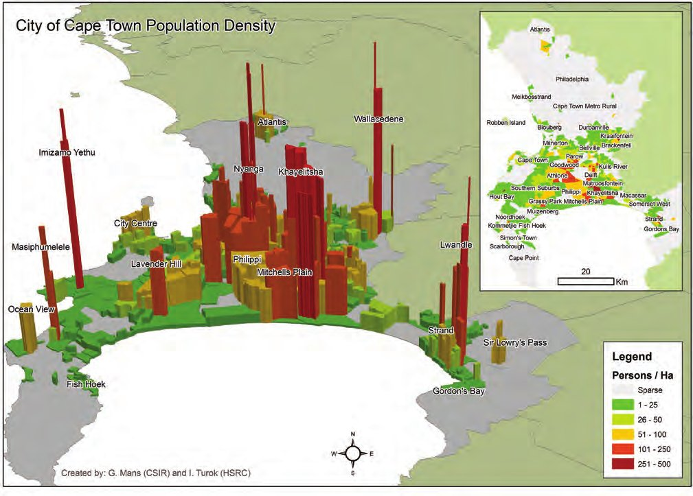 Cape Town Population Density Metabolism of Cities